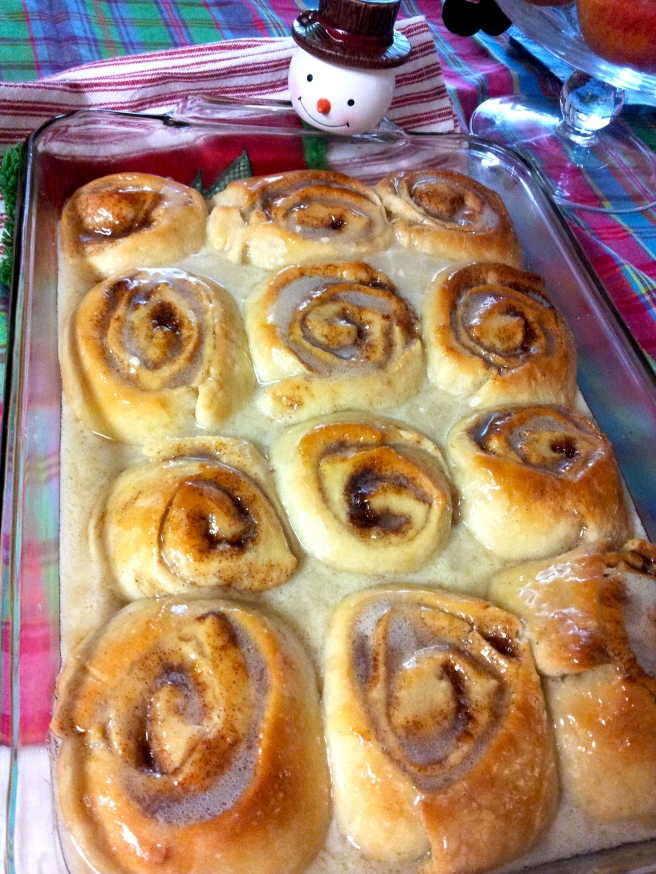 Look at these! The aroma was luring the family to the table.
